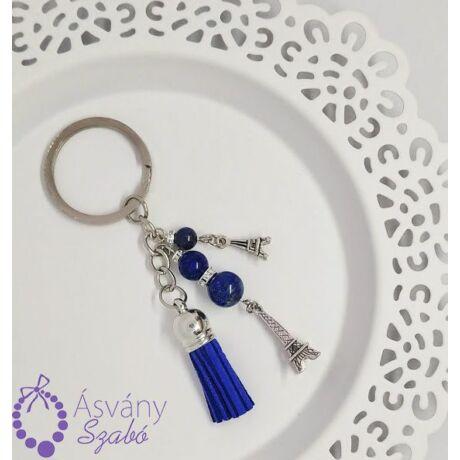 Lápisz lazuli (lazurit) táskadísz/kulcstartó