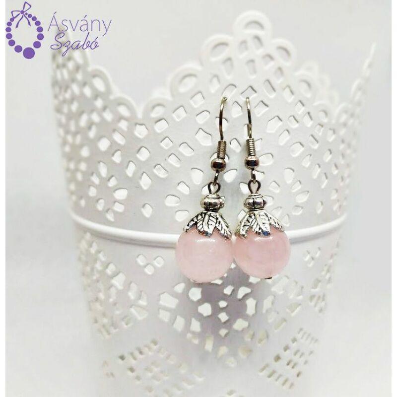 promóciós kódok 50% kedvezmény olcsón vásárol Rózsakvarc fülbevaló - Fülbevalók